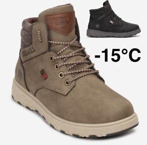 Herren Damen Winterschuhe Winterstiefel Snowboots Gefüttert Schneeschuhe -15°C