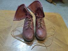 F.H. Hall Linemen's Supply Brown Men's Work Shoe Boots Size 11.5 D Steel Toe