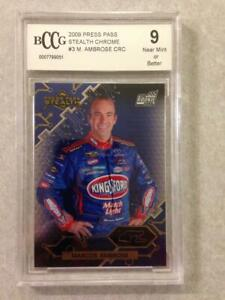 2009 Press Pass Stealth Chrome Marcos Ambrose Rookie #3 - BCCG 9
