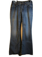 Silver SUKI Blue Jeans Women's Sz 30/32 Bootcut Embroidered Pockets