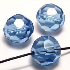 Lot de 20 Perles à Facettes Rondelles en cristal 8x6mm Bleu Saphir