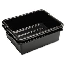 Brown Restaurant Bus Bin Commercial Utility Box Plastic Kitchen Tote 7.125Gal