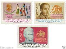 Chile 1981 #1022-24 Constitucion Politica de la Republica MNH