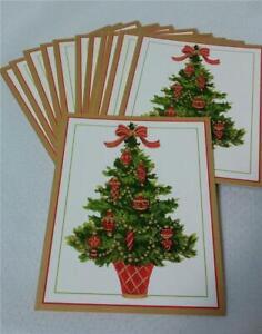 Set of 12 Vintage CASPARI Christmas Greeting Cards*Artwork by Janine Moore