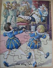 Vintage Old King Cole Wooden Jigsaw  20 Pieces 1970's Complete