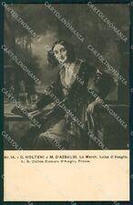 Firenze Città Mostra Ritratto Italiano 1911 Molteni cartolina XB4990