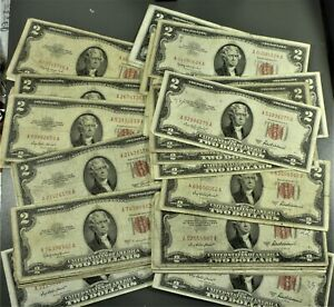 Lot: 50 1953 & 1963 $2.00 US Notes