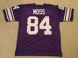 UNSIGNED CUSTOM Sewn Stitched Randy Moss Purple Jersey - M, L, XL, 2XL, 3XL