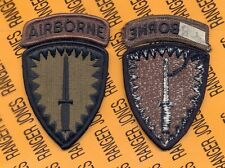 USA Special Operations Command Europe Airborne SOCEUR OD Green Black patch m/e