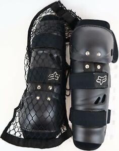 Black Fox Motocross Ventilator Knee Pads /Shin Guards -Standard Adult Size + Bag