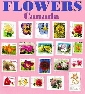 Stamps CANADA FLOWERS 🌹🌼🌸🌷💐 Canadian