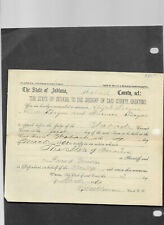 12 1800's Indiana state Summons Warrants Wabash Circuit Court Paper Documents