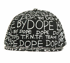 Dope Couture Dope By Dope Snapback Hat-Black-One Size