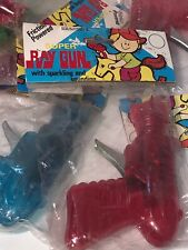 Vintage Friction Powered Super Ray Gun Sparkling And Sounding New Old Stock