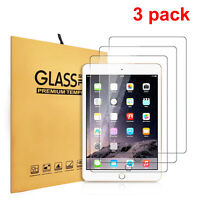 3 Pack Tempered Glass Screen Protector for Apple iPad 9.7 2/3/4 2nd 3rd 4th