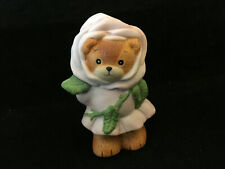 Vintage Lucy & Me Girl Bear Violet Flower Enesco Lucy Rigg 1989
