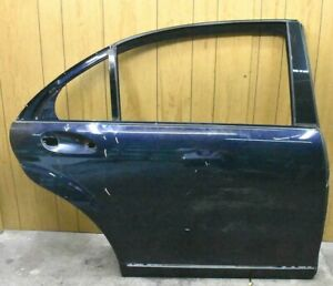 07-12 Mercedes W221 S550 S600 Rear Right Side Exterior Door Shell Panel Blue