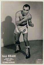 Tunesian Boxer FELIX BRAMI Bantam Weight * Vintage 1960s Advertising Photo