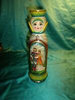 ~ alte Matpeha Matroschka Matrjoschka Flaschenbox Flaschenmantel Babuschka Holz