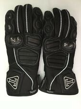 Triumph  Schoeller Motorcycle Leather Gloves Size Large Black Armored Reflective