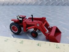 1/64 ERTL custom made farm toy 656 international wide front tractor w/ ih loader