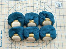 Elann Baby Cashmere yarn, light teal color #1417 lot #02, 6 skeins