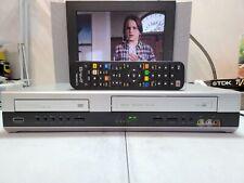 VIDEOREGISTRATORE VHS DVD PLAYER THOMSON DTH6300 6 TESTINE QUALITÀ TOP + TELECOM