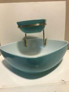 Pyrex Turquoise Chip And Dip Set 2.5qt, 12oz