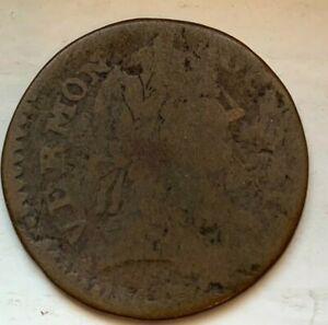 US 1787 Vermont Auctori Colonial Britannia Copper Coin (#D99) Bust Right
