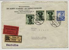 ÖSTERREICH 1954 EXPRESS! REKO-BRIEF, WIEN