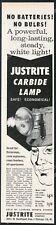 1963 Justrite carbide lamp photo vintage print ad