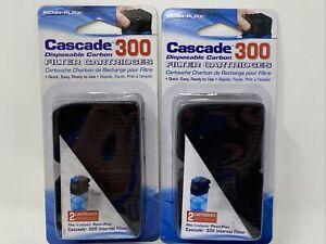 4 Pack Penn-Plax Cascade 300 Submersible Filter Replacement Carbon Cartridges