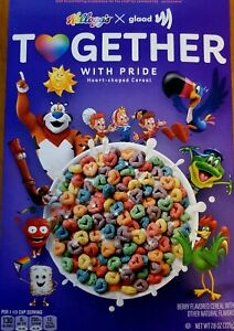 Kelloggs X Glaad Together With Pride Cereal Limited Edition 🌈 LGBTQ 2021 7.8oz