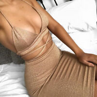 Women 2Piece Bodycon Two Piece Crop Top and Skirt Set Lace Up Pencil Dress Party