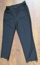 NWT SIZE 14 BLACK TAPERED LEG WOOL BLEND SMART TROUSERS 28'' LEG