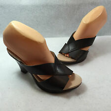Mootsies Tootsies High Heel Sandals Shoes Brown Strappy Slip On Size 7 M