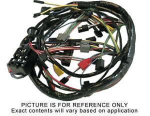64½ Mustang Main Underdash Wiring Harness, 1 Speed Wiper
