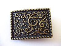 Flower Design Small Antique Brass Belt Buckle Made By Century Canada
