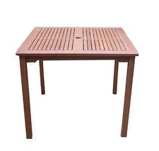 Home Kitchen Features VIFAH V1104 IBIZA Outdoor Wood Stacking Table Natural by