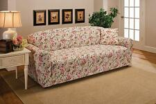 Pink Floral Cover For Loveseat Sofa Couch Chair Recliner-Stretches For Tight Fit