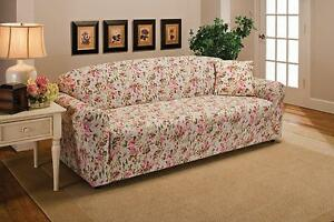 """""""A TOP PICK""""   PINK FLORAL COVERS FOR SOFA COUCH LOVESEAT RECLINER-""""STRETCHES"""" E"""