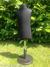 CHILDS AGE 2/4 Dressmaking Mannequin Tailor Bust Display Dummy Dressmakers BLACK