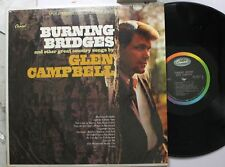 Country Lp Glen Campbell Burning Bridges On Capitol