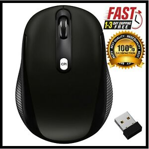 Wireless Mobile Optical Mouse 2.4Ghz with 3 CPI Levels and USB Receiver