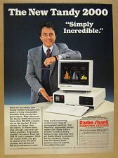 1984 Tandy TRS-80 Model 2000 Computer color photo Radio Shack vintage print Ad