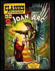 CLASSICS ILLUSTRATED #78 VG/F (O) HRN78 (JOAN OF ARC)