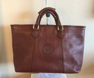 Tote Purse Unbranded Brown Genuine Leather Extra Large