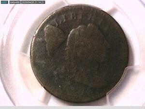 1795 Large Cent Penny PCGS Genuine Env. Damage  P/FR Details Plain Edge 28359551