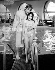 051 HELMUT BERGER WITH GIRL ON DIVING BOARD ASH WEDNESDAY PHOTO