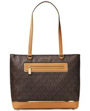 Michael Kors Bag / Bag Frame out Item Lg NS Tote Bag Canvas Leather Brown New